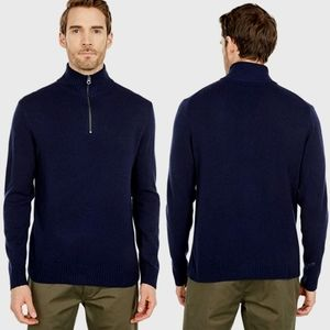 J.CREW - Rugged Cotton Half- Zip Sweater